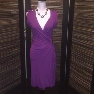 Banana republic passionate purple wrap around dres